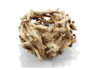 Přírodní svícen z naplaveného dřeva - 13*26*16cm
