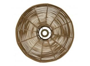Přírodní kulatá nástěnná ratanová lampa Billi - Ø 51*21cm