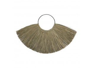 Nástěnná dekorace z mořské trávy se závěsným kroužkem - 80*1*52cm