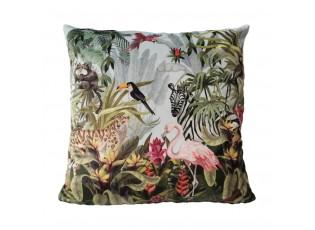Sametový polštář s plameňákem Jungle Flamingo - 45*45*10cm