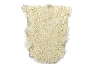 Béžová kudrnatá jehněčí kožešina - 60*70*5cm