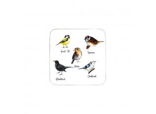 6ks pevné korkové podtácky ptáčci  - 10*10*0,4cm
