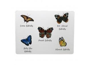 4ks pevné korkové prostírání motýli  - 30*40*0,4cm