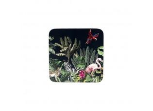 6ks korkové podtácky Jungle black - 10*10*0,4cm