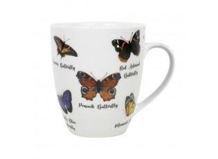 Porcelánový hrnek motýlci - 11,5*8,5*10cm