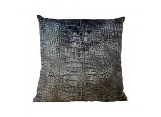 Sametový polštář s motivem krokodýlí kůže - 45*45*10cm