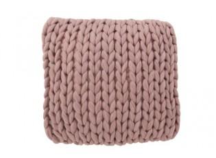 Pletený fialkový polštář Tricot purple - 40*40 cm