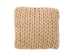 Pletený přírodní polštář Tricot crema - 40*40 cm