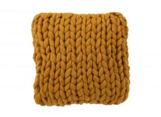 Pletený okrový polštář Tricot ochre - 40*40 cm