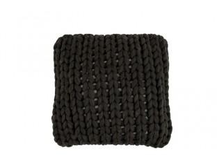 Pletený šedý polštář Tricot dark grey - 40*40 cm