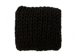 Pletený černý polštář Tricot black - 40*40 cm