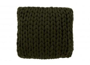 Pletený zelený polštář Tricot green - 40*40 cm