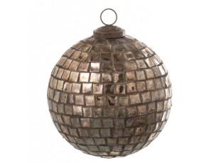 Vánoční zlatá antik skleněná ozdoba - Ø 12cm