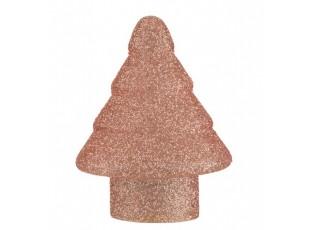 Dekorační svítící růžový skleněný stromek Pearl pink - Ø 17*22cm