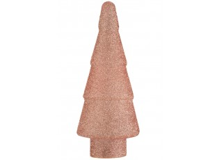 Dekorační svítící růžový skleněný stromek Pearl pink - Ø 17*41cm