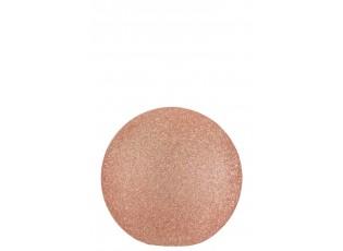 Dekorační svítící růžová skleněná koule Pearl pink - Ø 26*25cm