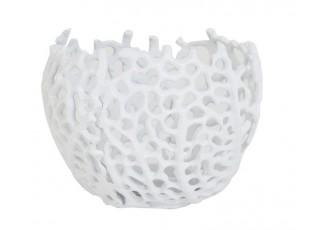 Bílý antik kovový svícen na čajovou svíčku Sabela - Ø 12*10cm