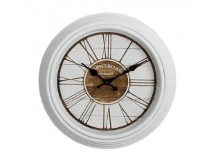 Bílé nástěnné hodiny Amsterdam - Ø30 *3,5cm