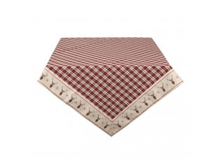 Kostkovaný ubrus na stůl s jeleny Cosy Lodge - 100*100 cm