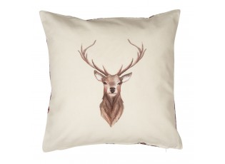 Béžový povlak na polštář s jelenem Cosy Lodge - 40*40 cm