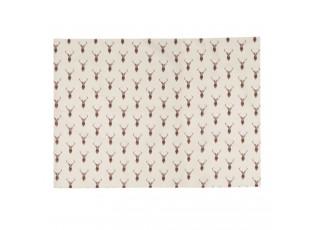 Béžové prostírání s jeleny Cosy Lodge - 48*33 cm - sada 6ks