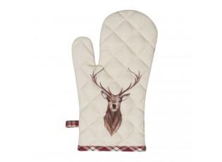 Béžová chňapka s jelenem Cosy Lodge - 16*30 cm