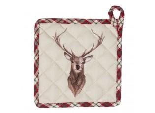 Chňapka - podložka s jelenem Cosy Lodge - 20*20 cm