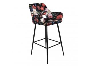 Barová židle s květinovým potiskem Parterre - 54*60*105 cm