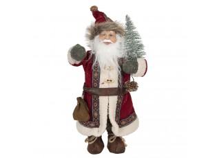 Vánoční dekorace Santa s vánočním stromečkem - 14*11*30 cm