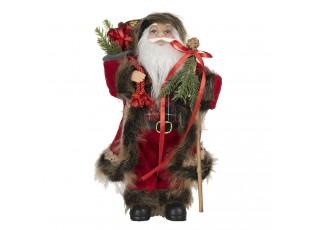 Vánoční dekorace Santa s nůší - 15*11*30 cm