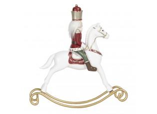 Vánoční dekorace Louskáček na houpacím koni - 22*4*23 cm