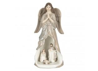 Vánoční dekorace anděla s LED osvětlením - 12*11*25 cm