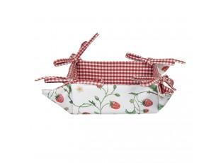 Bavlněný košík na pečivo Wild Strawberries - 35*35*8 cm