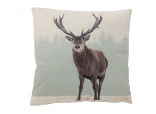 Sametový polštář s jelenem Deer - Ø 45*10 cm