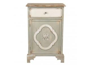 Šedá vintage skříňka / noční stolek - 63*34*98 cm