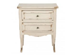 Krémová vintage skříňka / noční stolek - 66*36*80 cm