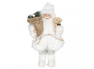 Vánoční dekorace Santa v bílém kožichu - 15*11*30 cm