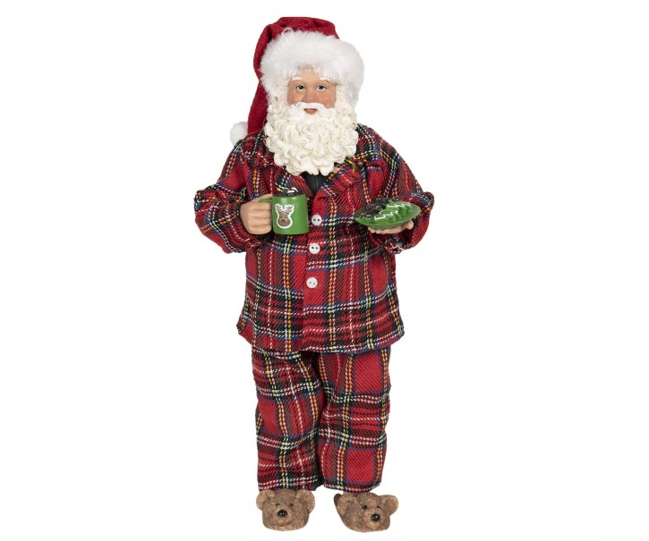 Vánoční dekorace Santa v pyžamu  - 14*10*28 cm