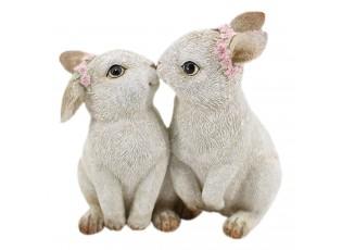 Dekorace zamilovaných králíčků - 10*6*10 cm