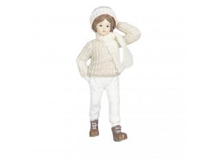 Dekorační figurka děvčete v pleteném svetru Bebe - 8*4*17 cm