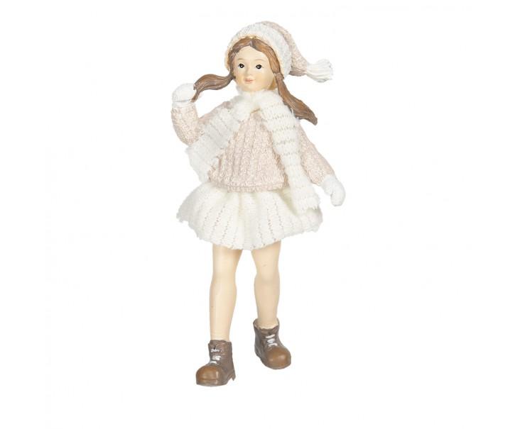 Dekorační figurka holčičky v sukni Bebe - 8*4*17 cm