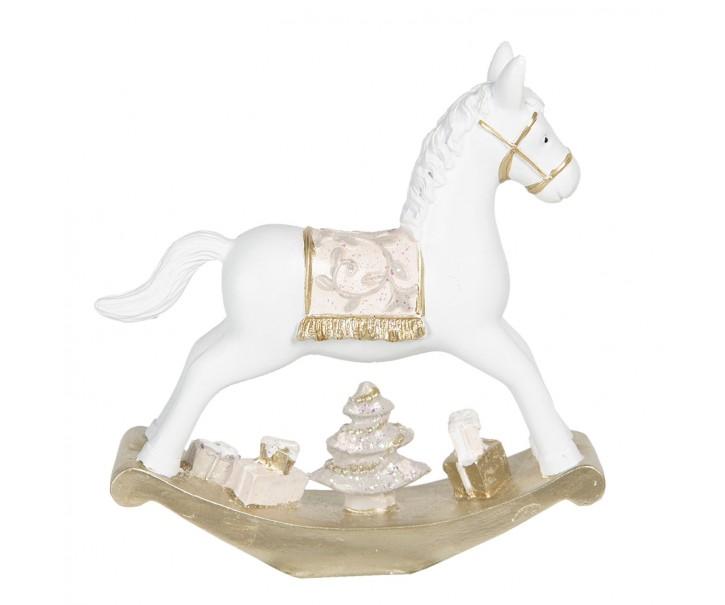 Vánoční dekorace houpací koník - 14*3*14 cm