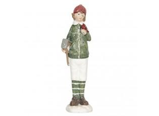 Dekorační figurka dítěte s ptačí budkou Bebe - 4*4*16 cm
