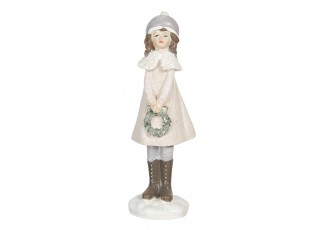 Dekorační figurka holčičky v kabátu Bebe - 4*4*16 cm