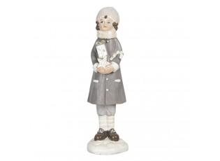 Dekorační figurka holčičky s dárkem Bebe - 4*4*16 cm