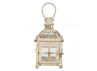 Kovová krémová lucerna ve vintage stylu Adolphe - 17*17*27 cm