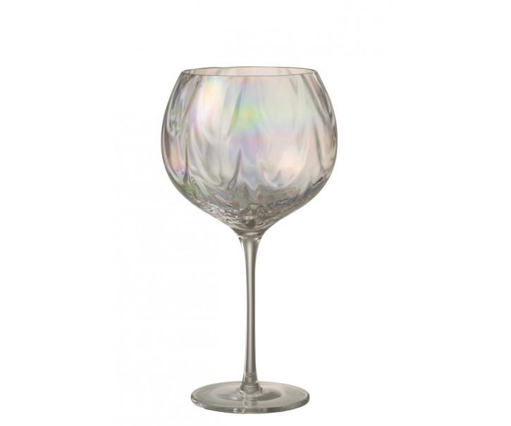 Duhová sklenička na víno Oil transparent - Ø 11*21 cm