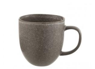 Šedo-hnědý keramický hrnek Louise taupe - 13*8,5*10cm