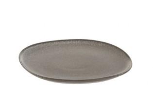 Šedo-hnědý dezertní talíř Louise taupe - 19*20*1,5cm