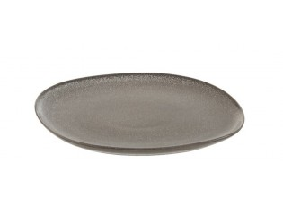 Šedo-hnědý jídelní talíř Louise taupe - 26*25*1,5cm